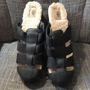 Ugg clog mule furry fuzzy stuffed sandals